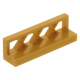 LEGO kerítés rácsos, 1×4×1, gyöngyház arany (3633)