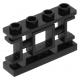 LEGO kerítés 1×4×2 keleti rács mintával tetején négy bütyökkel, fekete  (32932)