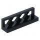 LEGO kerítés rácsos, 1×4×1, fekete (3633)