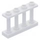 LEGO kerítés 1×4×2 tetején négy bütyökkel, fehér (15332)