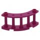 LEGO kerítés negyedkör 4x4x2 két bütyökkel, bíborvörös (30056)