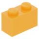 LEGO kocka 1x2, világos narancssárga (3004)