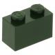 LEGO kocka 1x2, sötétzöld (3004)