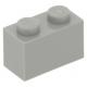 LEGO kocka 1x2, világosszürke (3004)