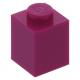 LEGO kocka 1x1, bíborvörös (3005)