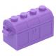 LEGO láda kinyitható 5×2×2, közép levendulalila (4738ac01)