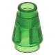 LEGO kúp 1x1, átlátszó zöld (4589b)
