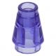 LEGO kúp 1x1, átlátszó lila (4589b)