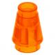 LEGO kúp 1x1, átlátszó narancssárga (4589b)