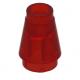 LEGO kúp 1x1, átlátszó piros (4589b)