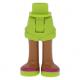 LEGO Friends láb (lime szoknya, lime cipő) (11403)