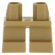 LEGO láb rövid, sötét sárgásbarna