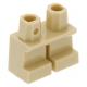 LEGO láb rövid, sárgásbarna (41879)