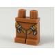 LEGO láb heveder mintával, sötét narancssárga (34187)