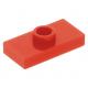 LEGO lapos elem 1 bütyökkel középen 1×2, piros (15573/3794)