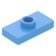 LEGO lapos elem 1 bütyökkel középen 1×2, sötét azúrkék (15573)