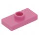 LEGO lapos elem 1 bütyökkel középen 1×2, sötét rózsaszín (15573)