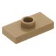LEGO lapos elem 1 bütyökkel középen 1×2, sötét sárgásbarna (15573)