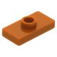 LEGO lapos elem 1 bütyökkel középen 1×2, sötét narancssárga (15573/3794)