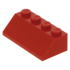 LEGO tetőelem 45°-os 2×4, piros (3037)