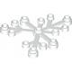 LEGO falevelek lomb 6×5, fehér (2417)