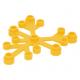 LEGO falevelek lomb 6×5, világos narancssárga (2417)