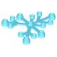 LEGO falevelek lomb 6×5, közép azúrkék (2417)
