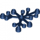 LEGO falevelek lomb 6×5, sötétkék (2417)