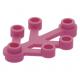 LEGO falevelek lomb 4×3, sötét rózsaszín (2423)