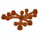 LEGO falevelek lomb 6×5, sötét narancssárga (2417)