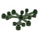 LEGO falevelek lomb 6×5, sötétzöld (2417)