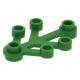 LEGO falevelek lomb 4×3, zöld (2423)