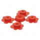 LEGO virágfej 4db, piros (3742)