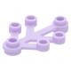 LEGO falevelek lomb 4×3, levendula lila (2423)