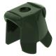 LEGO páncél minta nélkül, sötétzöld (2587)