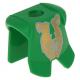 LEGO páncél aranyszínű majom mintával, zöld (2587pn07)