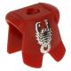 LEGO páncél skorpió mintával, sötétpiros (2587pb09)