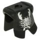 LEGO páncél skorpió mintával, fekete (2587pb15)