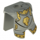 LEGO páncél oroszlánfej mintával, matt ezüst (2587pb23)