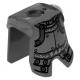 LEGO páncél hős lovag mintás, matt ezüst (2587pb31)