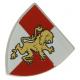 LEGO pajzs oroszlán mintával (Castle), világosszürke (91054)