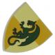 LEGO pajzs sárkány mintával (Castle), világosszürke (91057)
