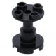 LEGO oszlop/tartóelem 2×2×2, fekete (3940)