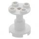 LEGO oszlop/tartóelem 2×2×2, fehér (3940)