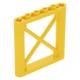 LEGO oszlop/tartóelem 1×6×5 átlós merevítővel, sárga (64448)