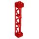 LEGO oszlop/tartóelem rácsos torony 2×2×10, piros (95347)