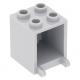 LEGO postaláda szekrény 2×2×2, világosszürke (4345)