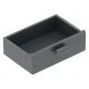 LEGO fiók szekrényfiók 2×3, sötétszürke (4536)