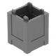 LEGO láda 2×2×2, sötétszürke (61780)