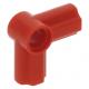LEGO technic 90°-os tengely és pin csatlakozó #6, piros (32014)